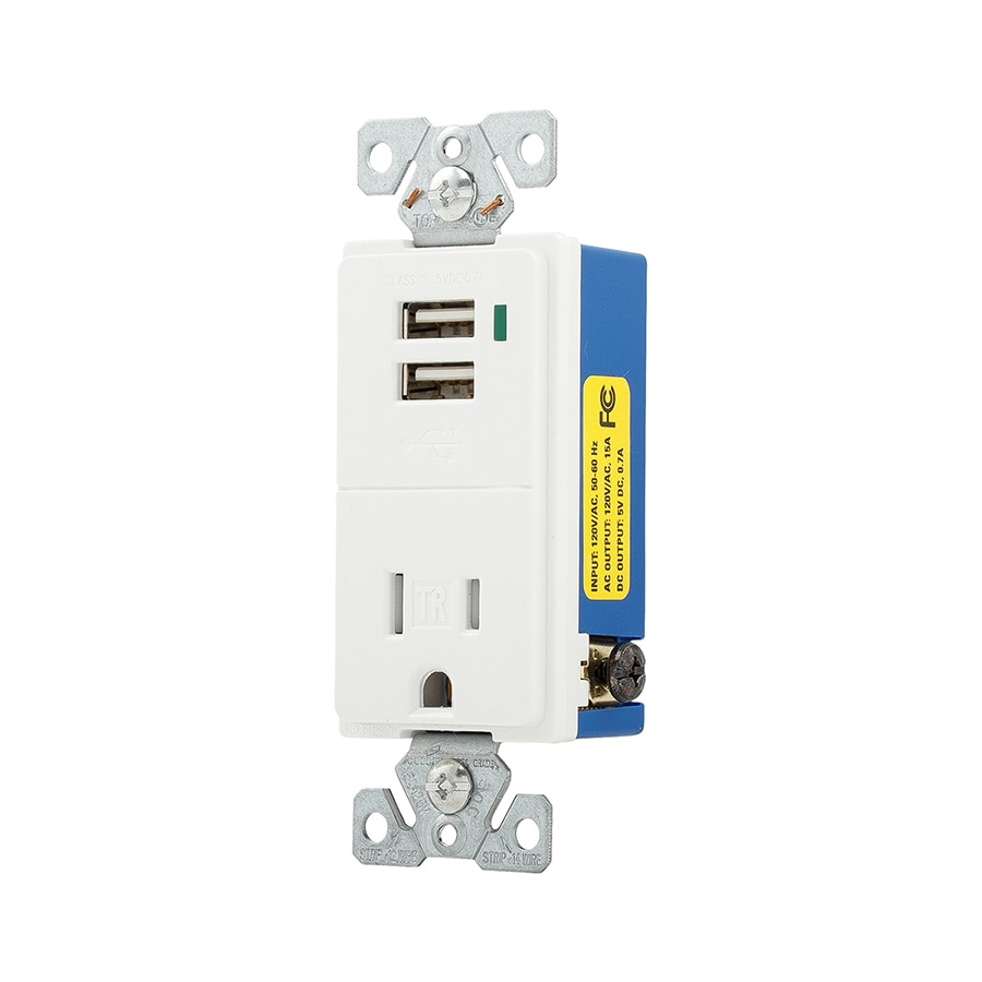 Shop Cooper Wiring Devices White Single Wall Plate At A Outlet
