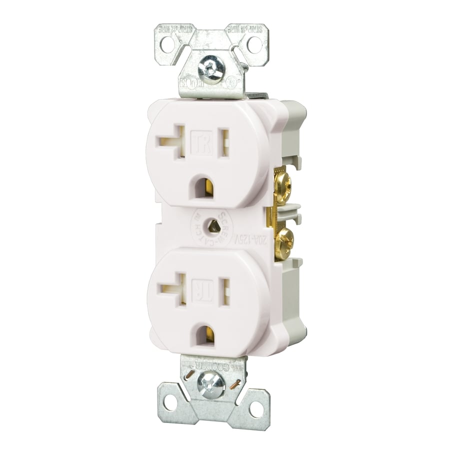Shop Cooper Wiring Devices 10 Pack 20 Amp White Duplex Electrical Electric Outlet