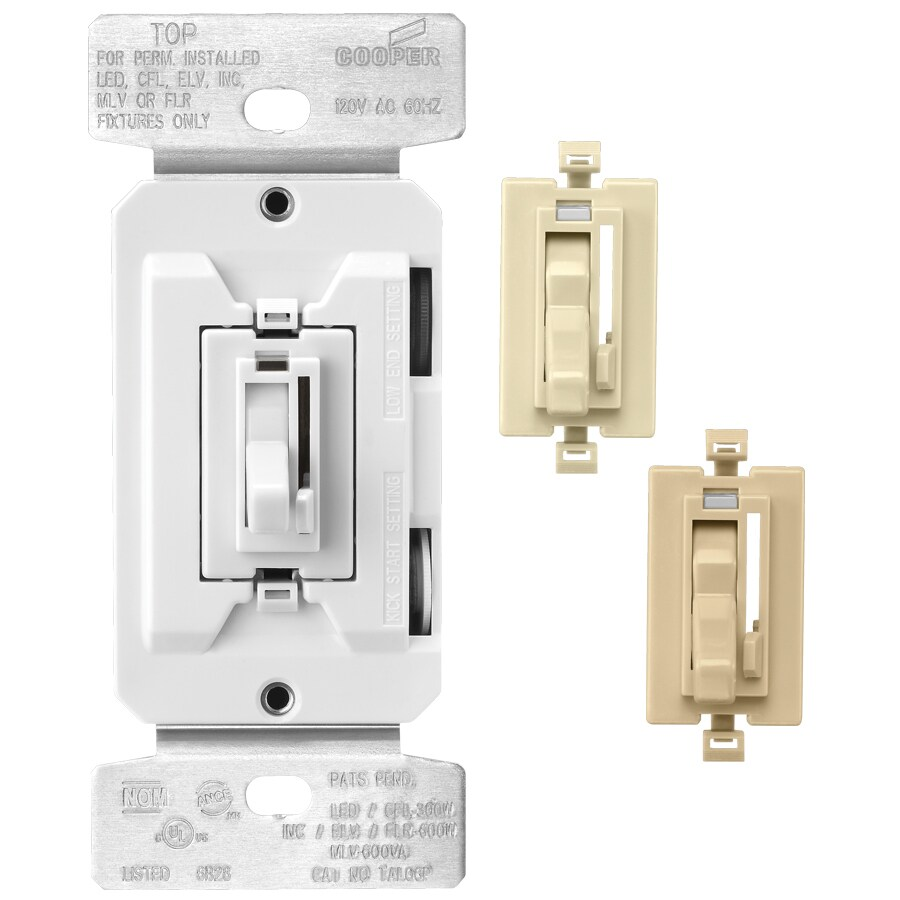 Cooper Wiring Devices 1-Switch Single Pole 3-Way Color Change Kit Al-Wh-Iv Indoor Toggle Dimmer
