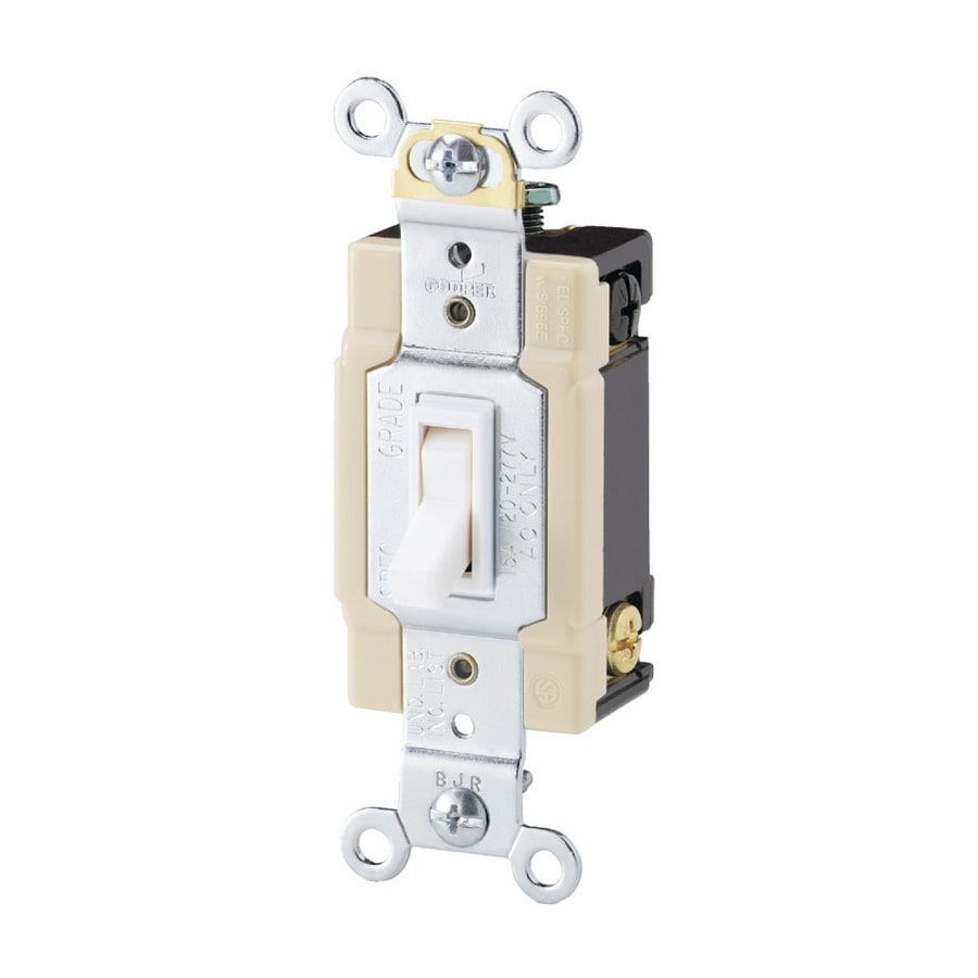 Shop Eaton -Switch 4-way White Light Switch at Lowes.com