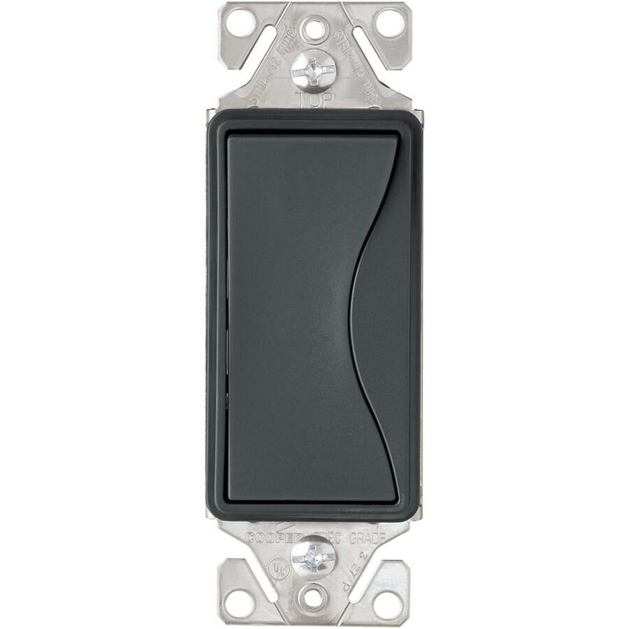 Eaton ASPIRE 15-Amp 3-Way Single Pole Silver Granite Indoor Rocker Light Switch
