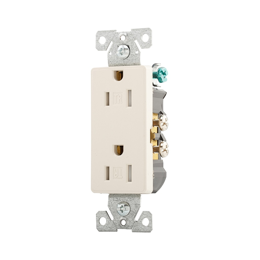 Eaton Aspire 15-Amp 125-Volt Desert Sand Indoor Decorator Wall Tamper Resistant Outlet