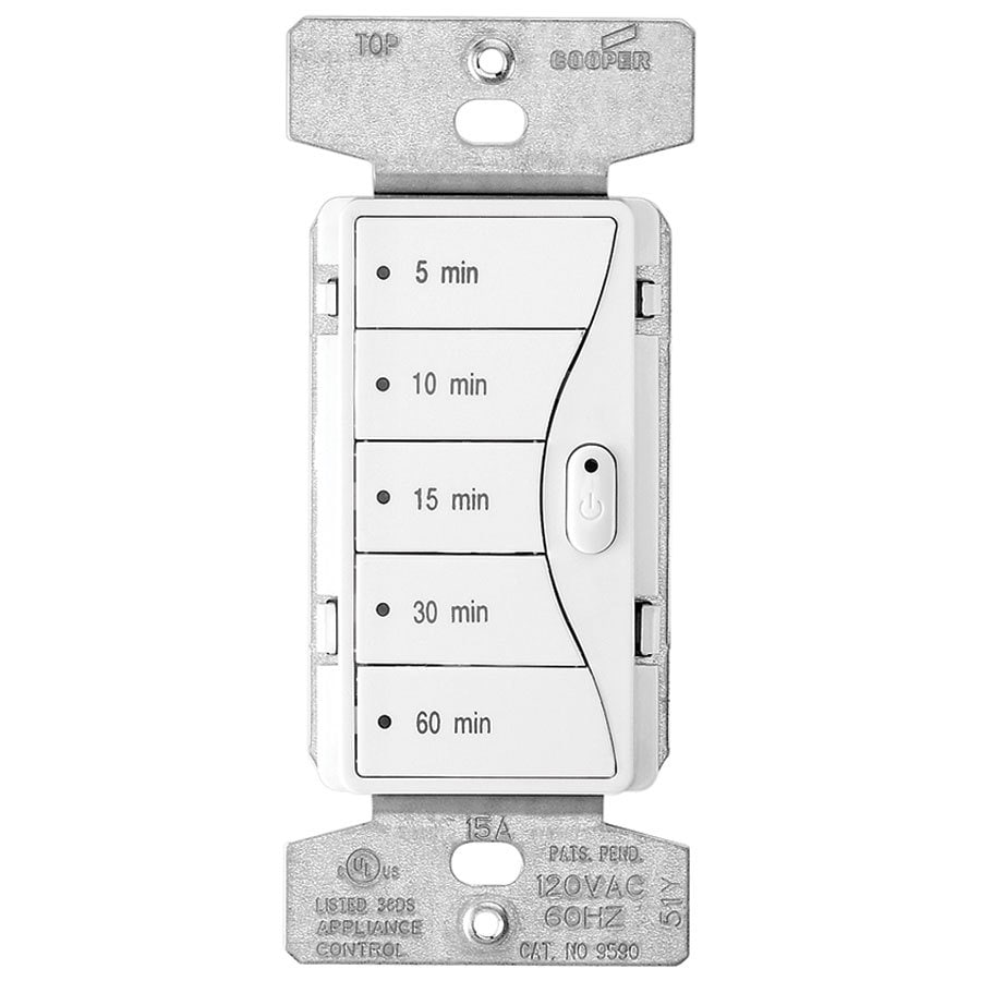 Eaton ASPIRE 5-Switch 1,000-Watt Color Change Kit Alpine White-Desert Sand-White Satin Indoor Push Light Switch