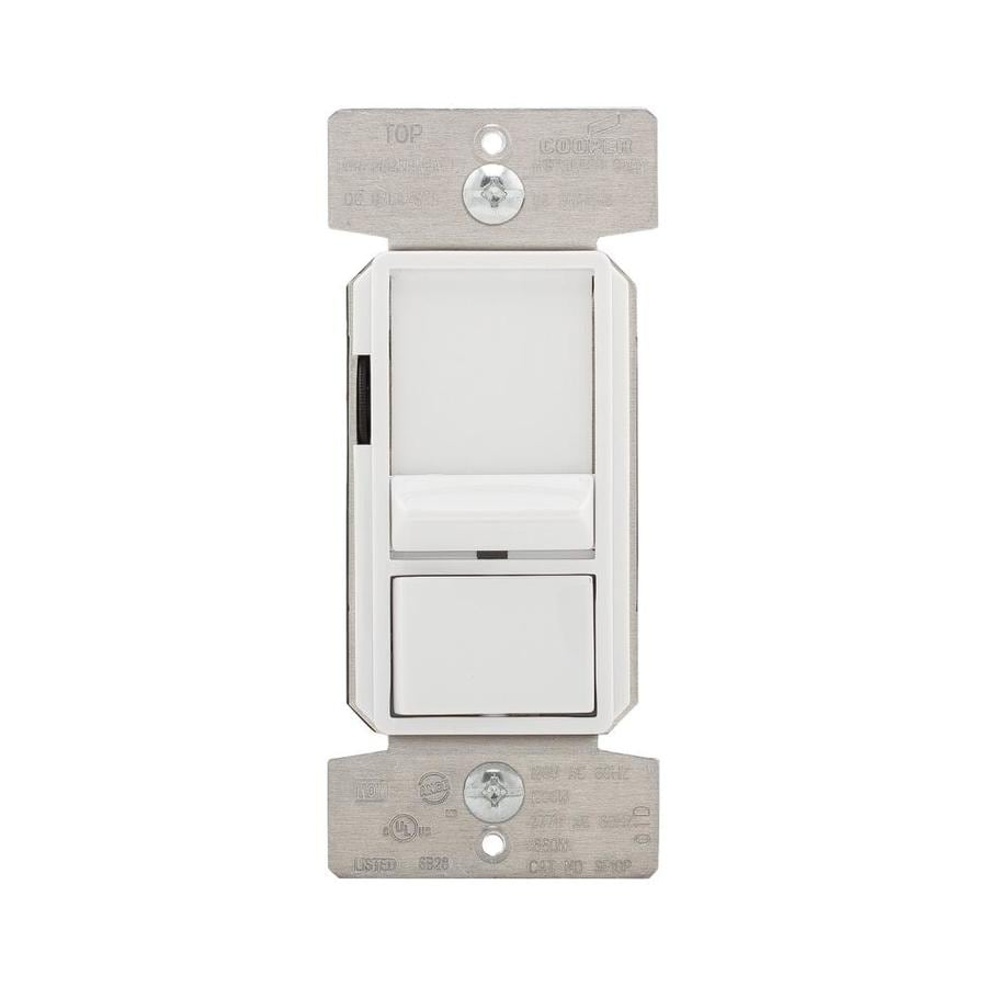 Eaton 1-Switch 0-Amp Single Pole 3-Way Multi-Location White Indoor Slide Dimmer