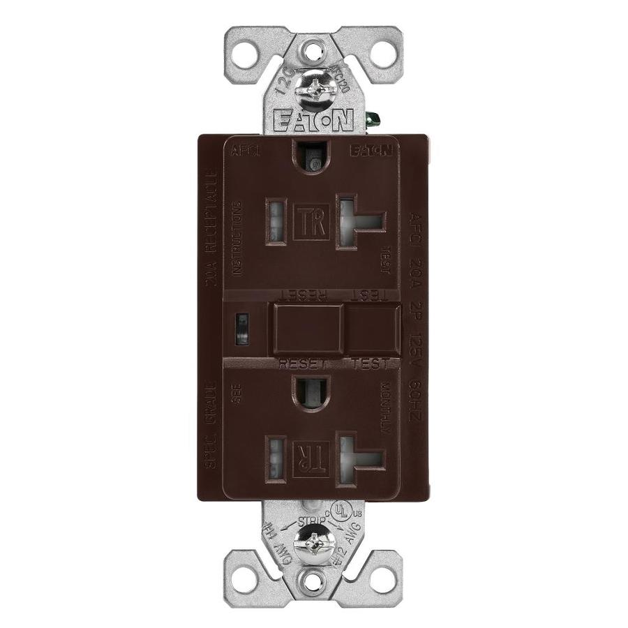 Home Decorators Outlet Locations: Eaton Brown 20-Amp Decorator Outlet AFCI Protection