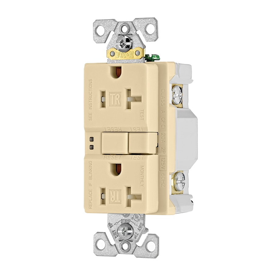 Home Decorators Outlet Locations: Eaton Ivory 20-Amp Decorator Outlet GFCI Residential At