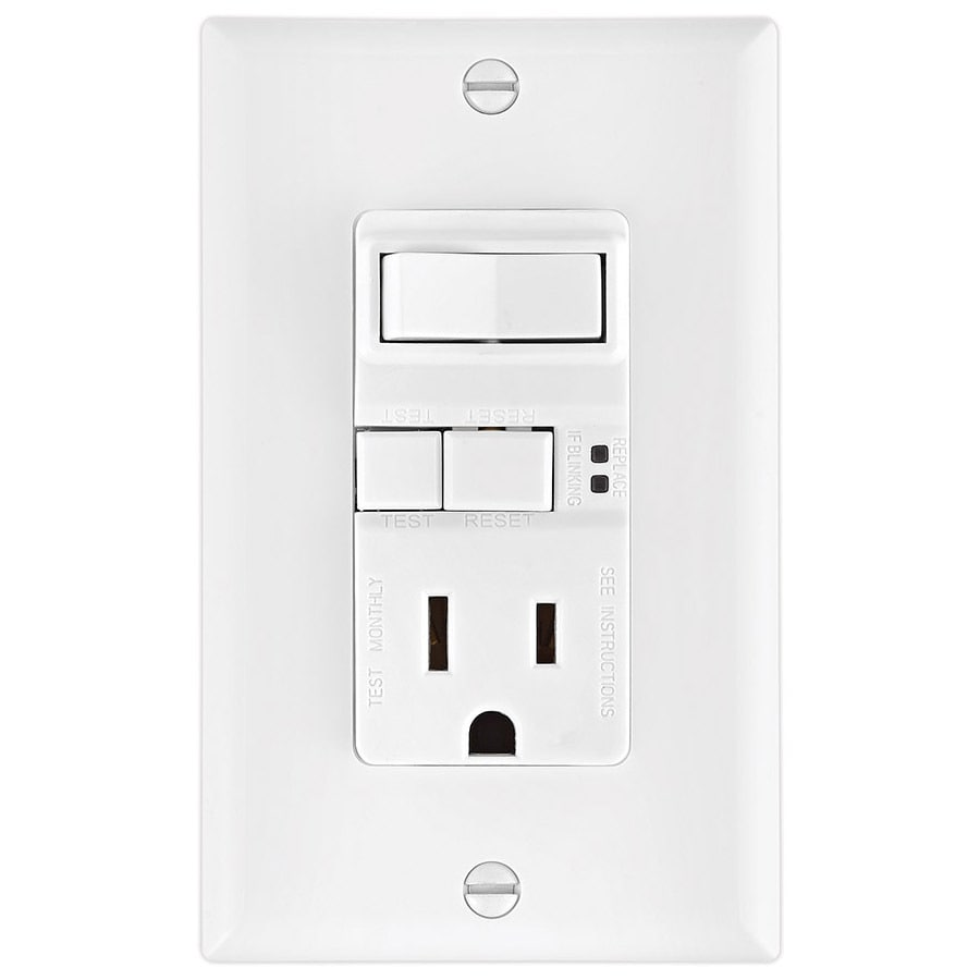 Shop eaton 15 amp 125 volt white indoor gfci decorator wall outlet eaton 15 amp 125 volt white indoor gfci decorator wall outletswitch publicscrutiny Images
