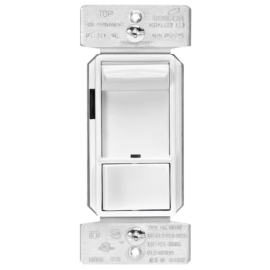 Shop Eaton Halo 600 Watt 3 Way White Compatible With Led Dimmer At Pull Out Switch Wiring Diagram