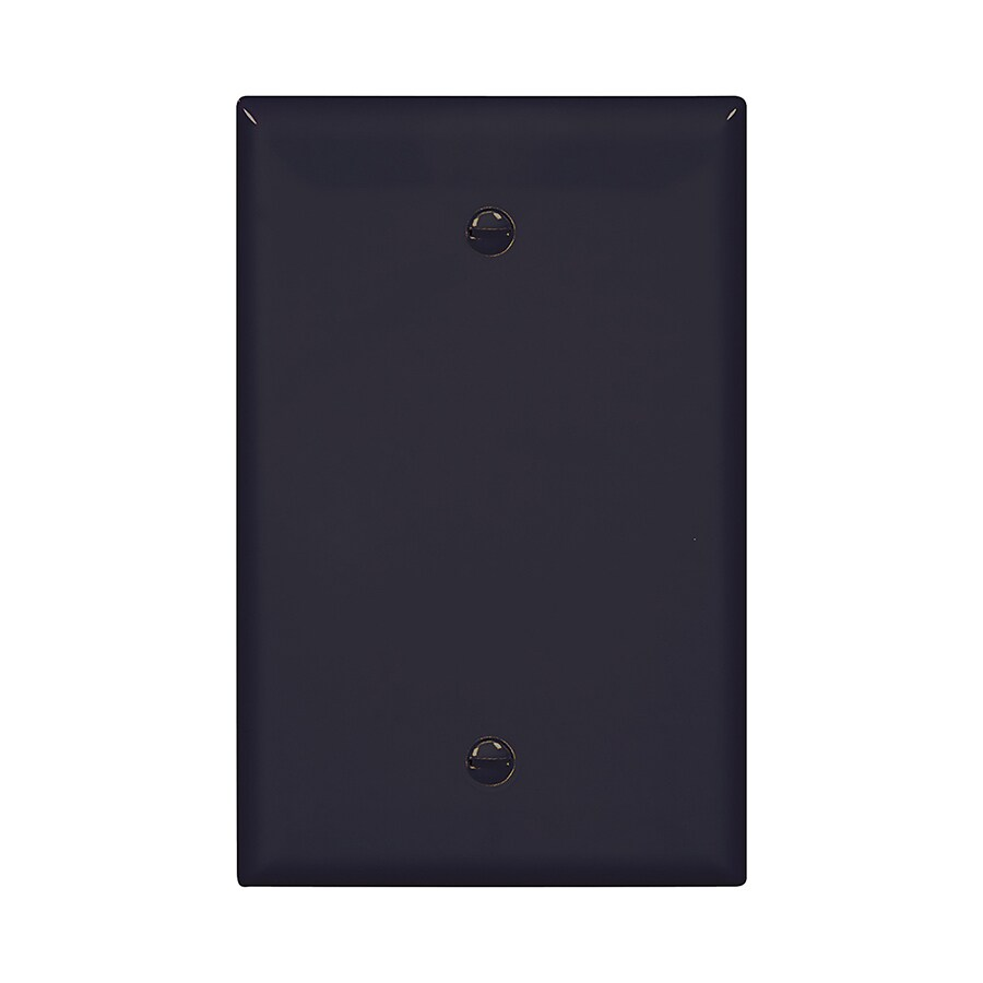 Eaton 1-Gang Black Single Blank Wall Plate