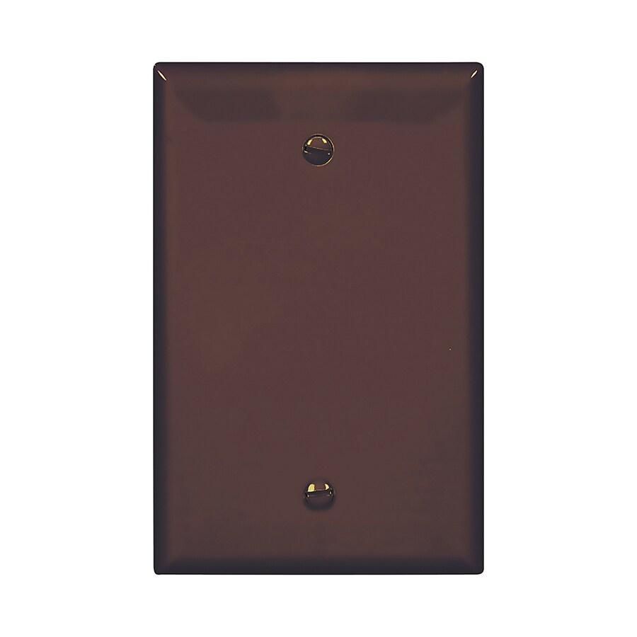 Eaton 1-Gang Brown Single Blank Wall Plate