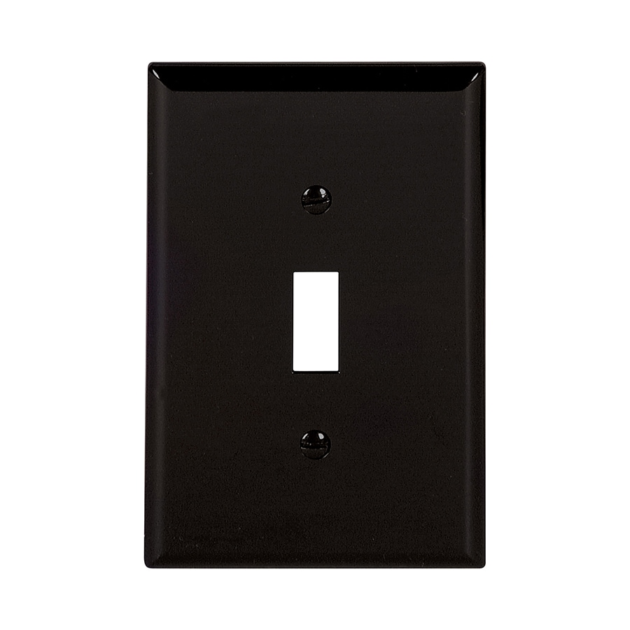 Eaton 1-Gang Black Single Toggle Wall Plate
