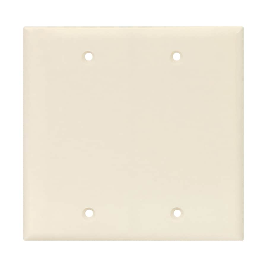 Eaton 2-Gang Light Almond Double Blank Wall Plate