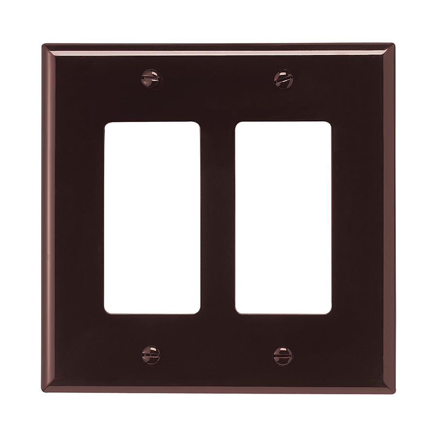 Shop Eaton 2 Gang Brown Double Decorator Wall Plate At
