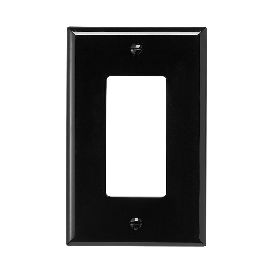 Eaton 1-Gang Black Single Decorator Wall Plate