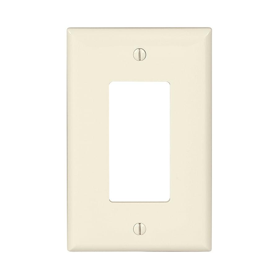 Eaton 10-Pack 1-Gang Light Almond Single Decorator Wall Plates