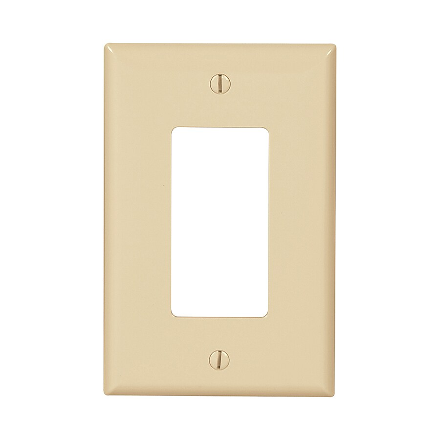 Eaton 10-Pack 1-Gang Ivory Single Decorator Wall Plates