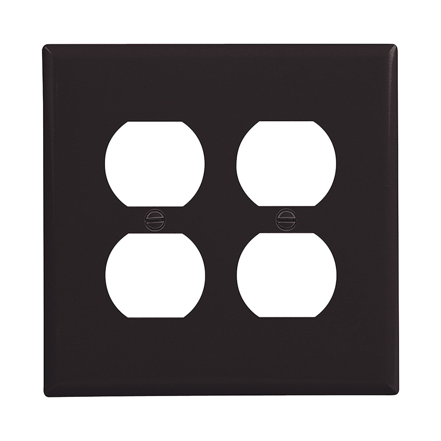 Eaton 2-Gang Black Double Duplex Wall Plate
