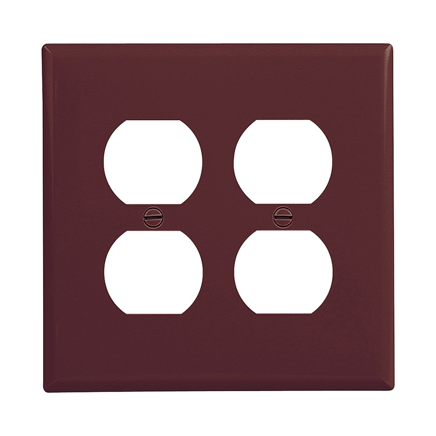 Eaton 2-Gang Brown Double Duplex Wall Plate