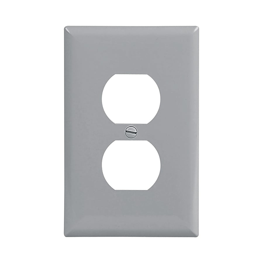 Eaton 1-Gang Gray Single Duplex Wall Plate
