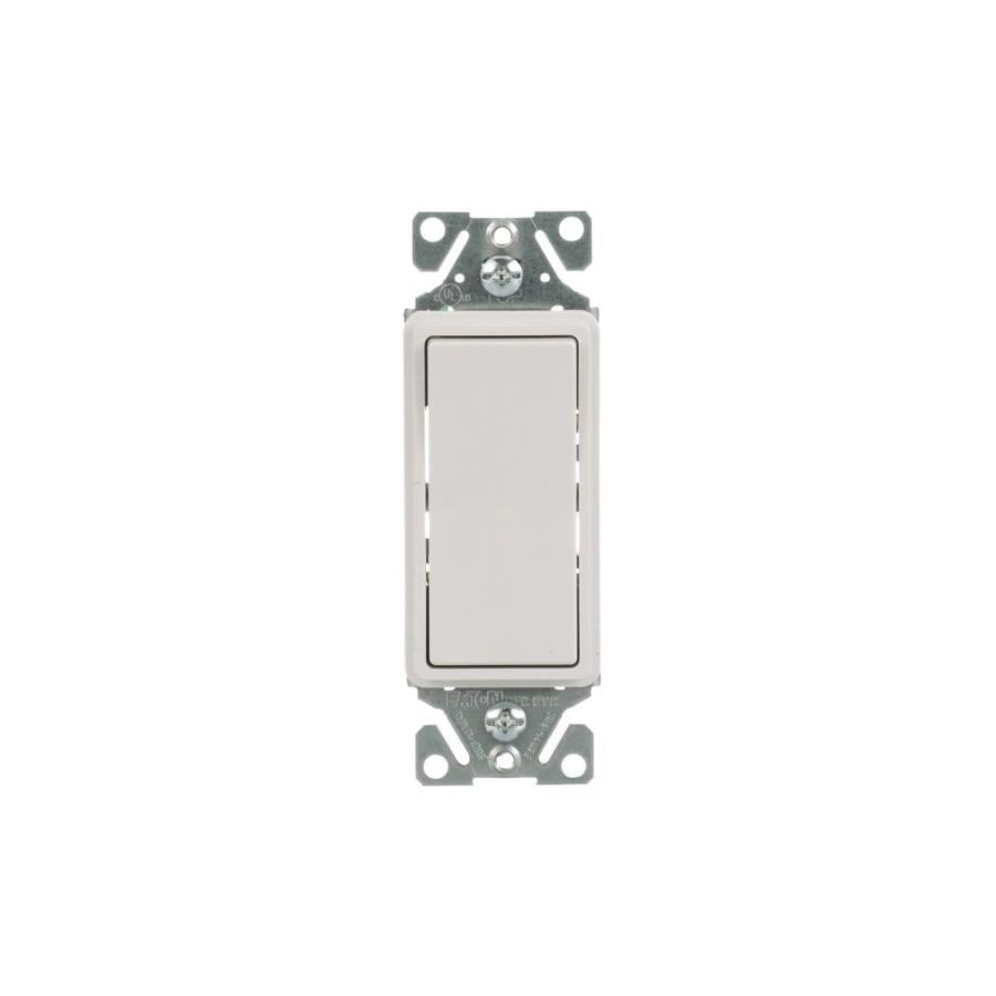 032664746987 shop eaton single pole 3 way white push light switch at lowes com LED Rocker Switch Wiring Diagram at highcare.asia