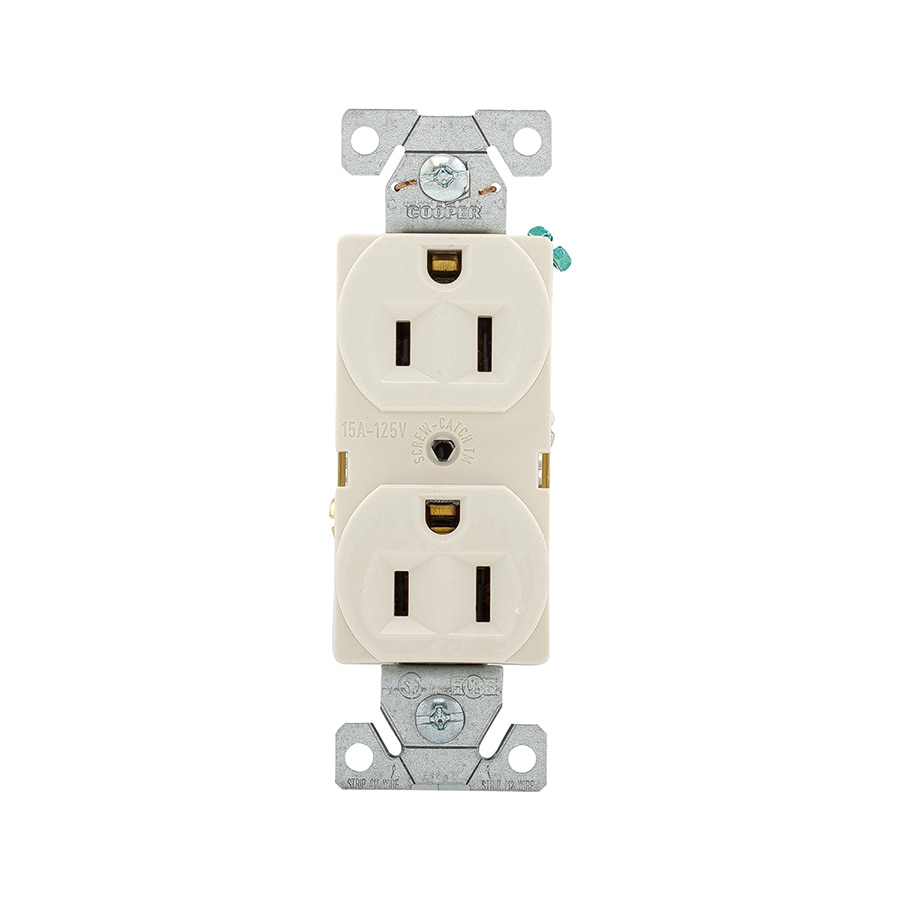 Eaton 10-Pack 15-Amp 125-Volt Light Almond Indoor Duplex Wall Outlet