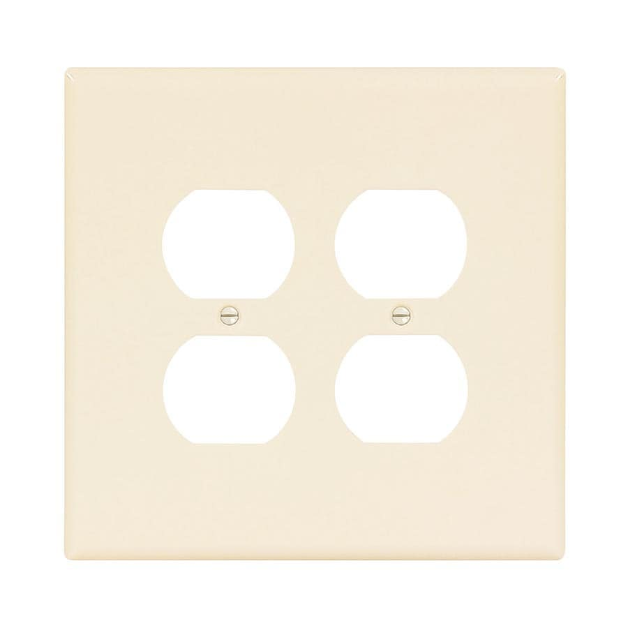 Eaton 2-Gang Light Almond Double Duplex Wall Plate