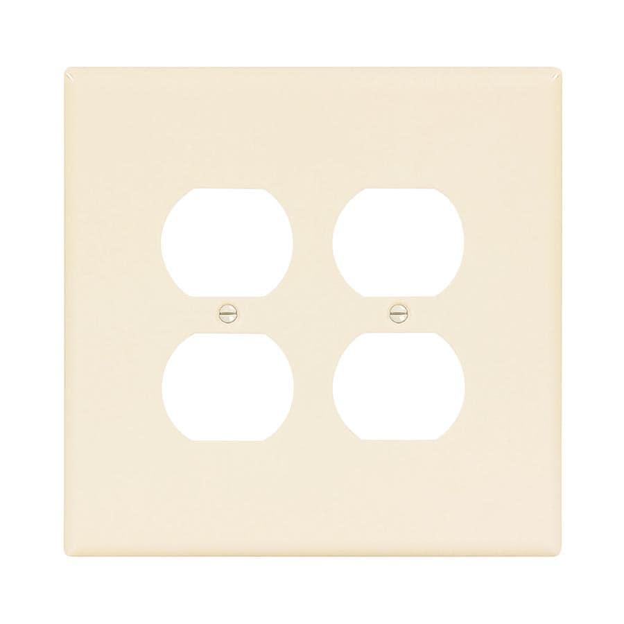 Eaton 2-Gang Light Almond Double Duplex Wall Plate