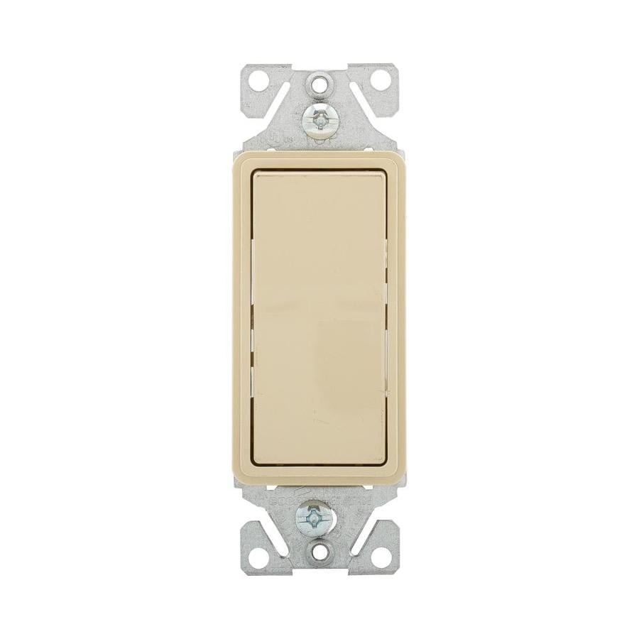 Eaton 15-Amp Single Pole Ivory Indoor Rocker Light Switch