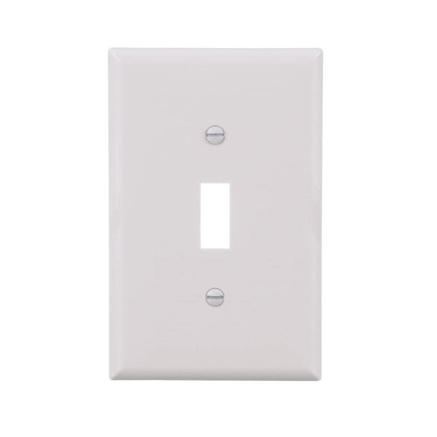 Eaton 10-Pack 1-Gang White Single Toggle-ft Wall Plate