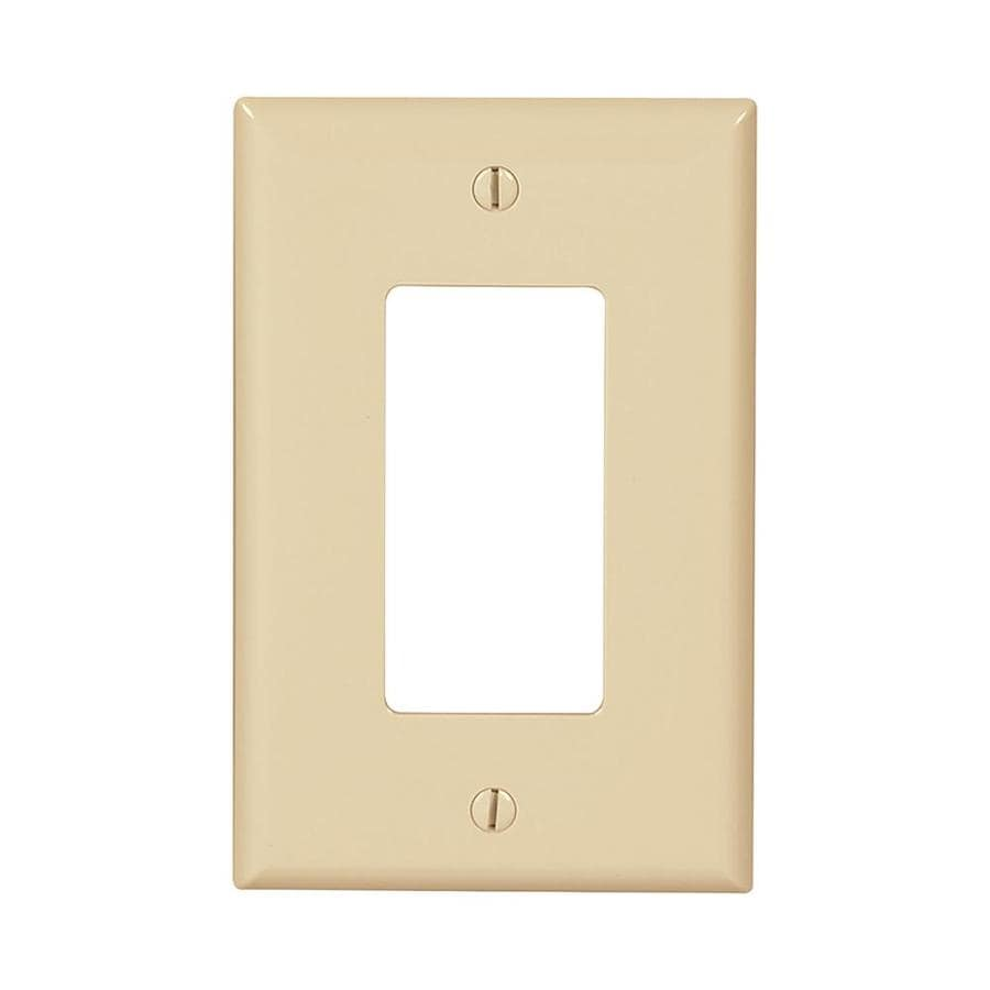 Eaton 10-Pack 1-Gang Ivory Single Decorator-ft Wall Plate