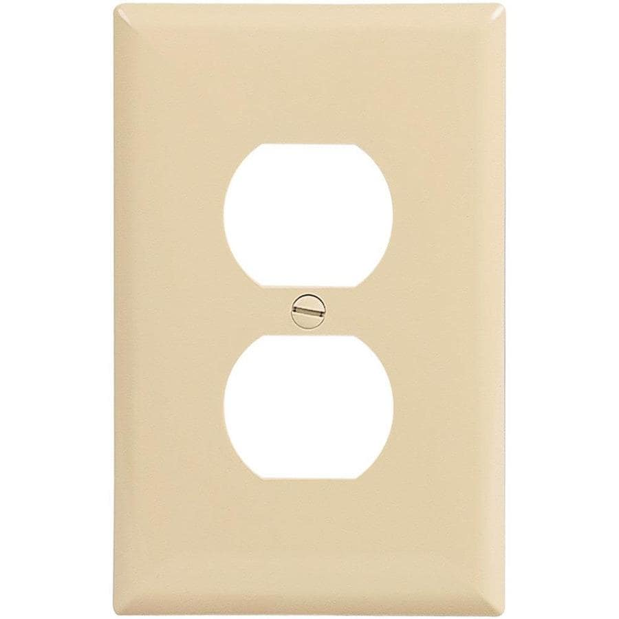 Eaton 10-Pack 1-Gang Ivory Single Duplex Wall Plate