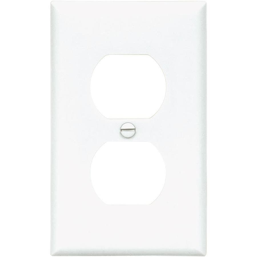 Eaton 10-Pack 1-Gang White Single Duplex-ft Wall Plate