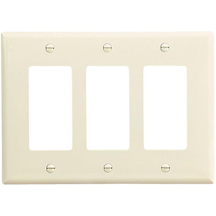 Eaton 3-Gang Light almond Triple Decorator-ft Wall Plate