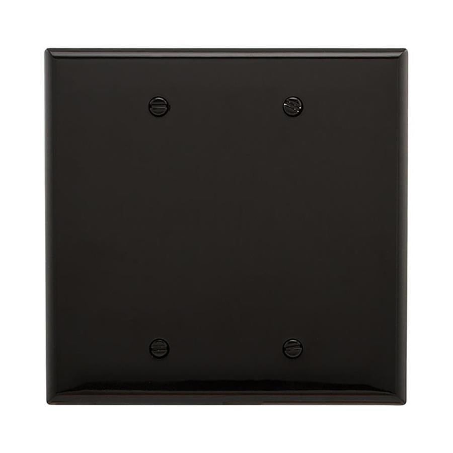 Eaton 2-Gang Black Double Blank Wall Plate