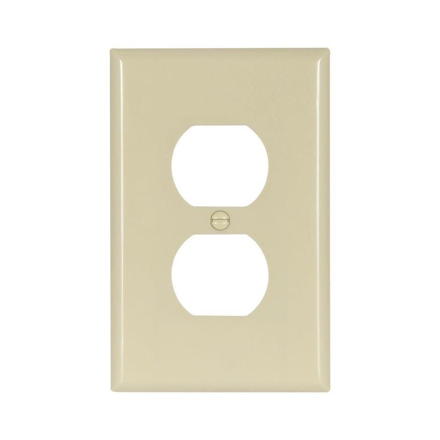 Eaton 1-Gang Ivory Double Duplex Wall Plate