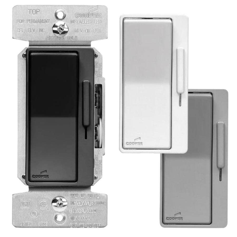 Shop Eaton 600-watt Single Pole 3-way Color Change Kit BK-WH-GY ...
