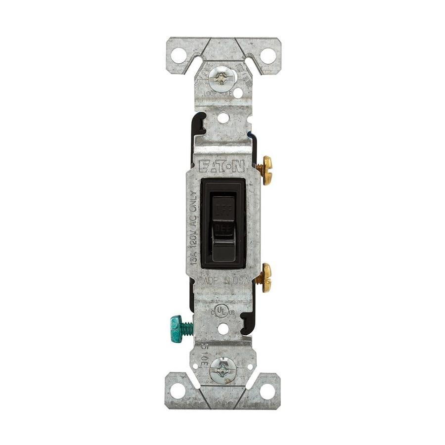 Eaton 15-amp Single Pole Black Toggle Indoor Light Switch