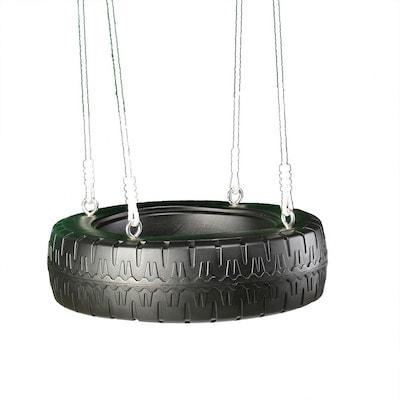 Swing N Slide Classic Black Tire Swing At Lowes Com