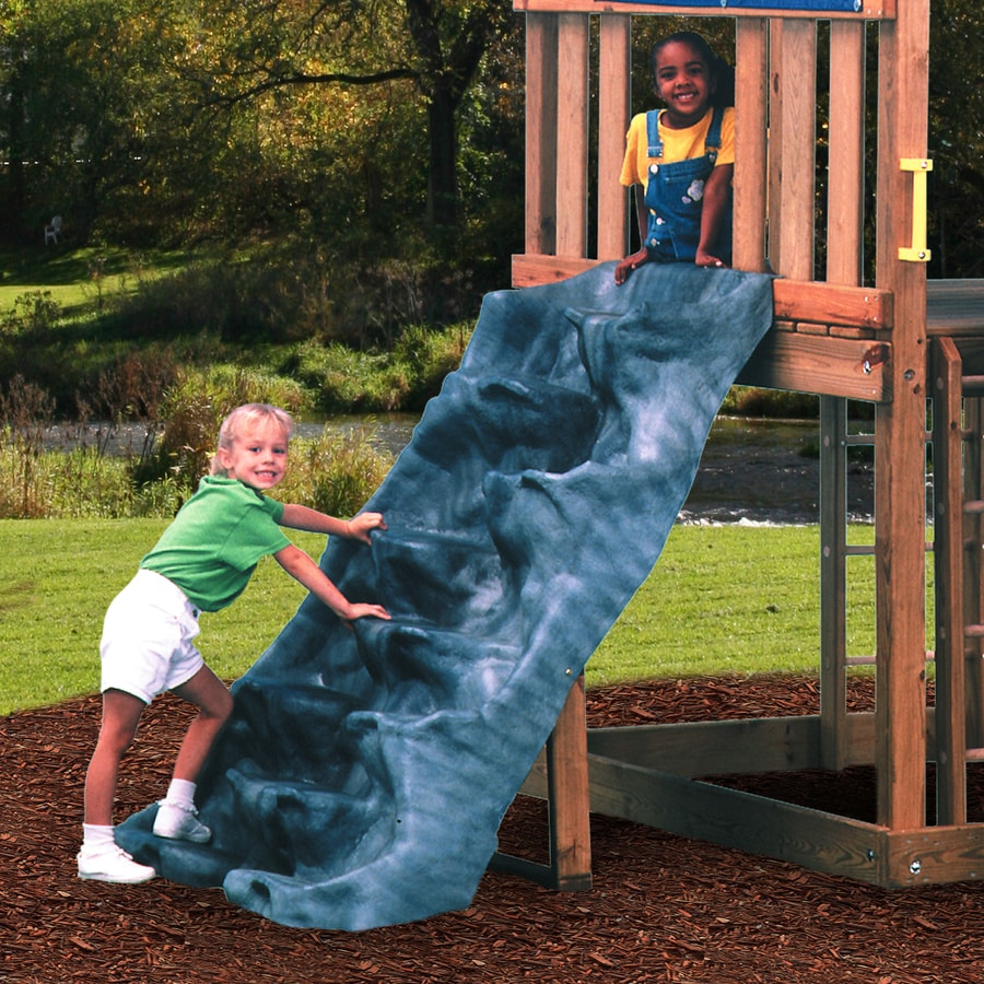 Swing N Slide Discovery Mountain Gray Climbing Wall At Lowes Com