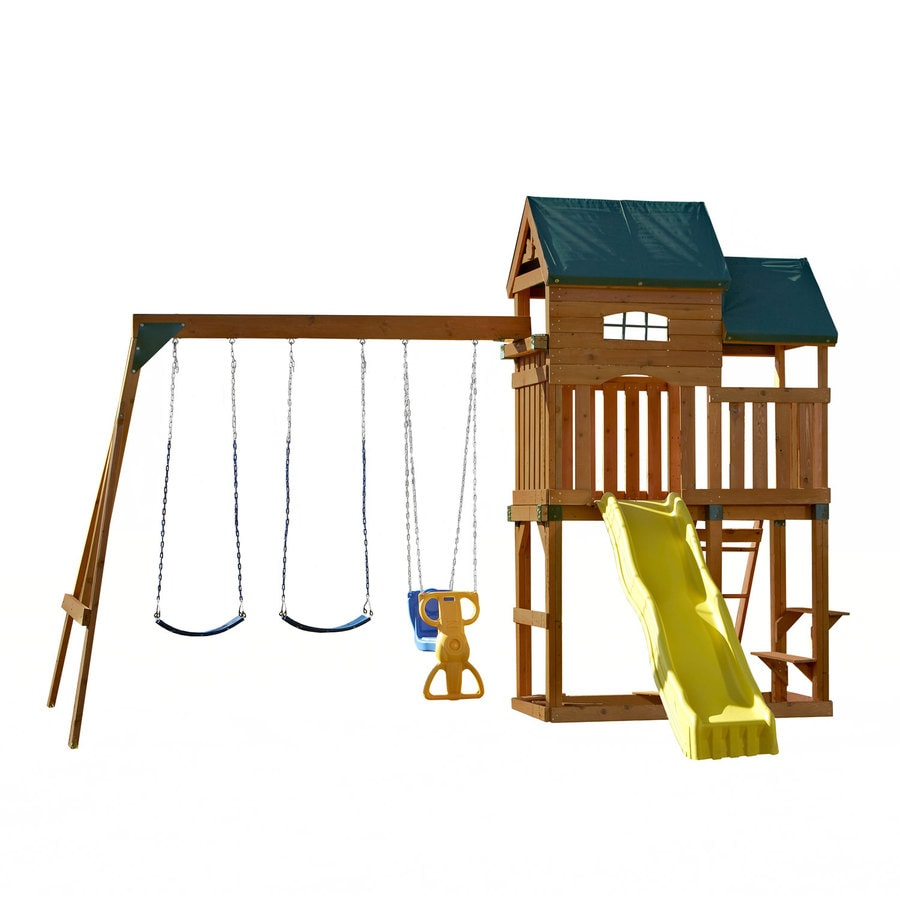 Swing-N-Slide Coveside Ready-to-Assemble Residential Wood Playset with Swings