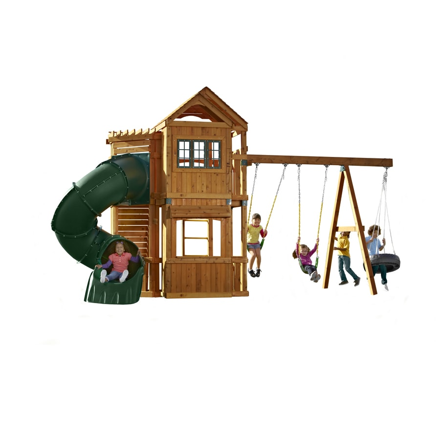 Swing-N-Slide Durango Ready-to-Assemble Residential Wood Playset with Swings