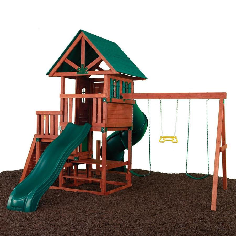 Swing-N-Slide Southampton Ready-to-Assemble Kit Residential Wood Playset with Swings
