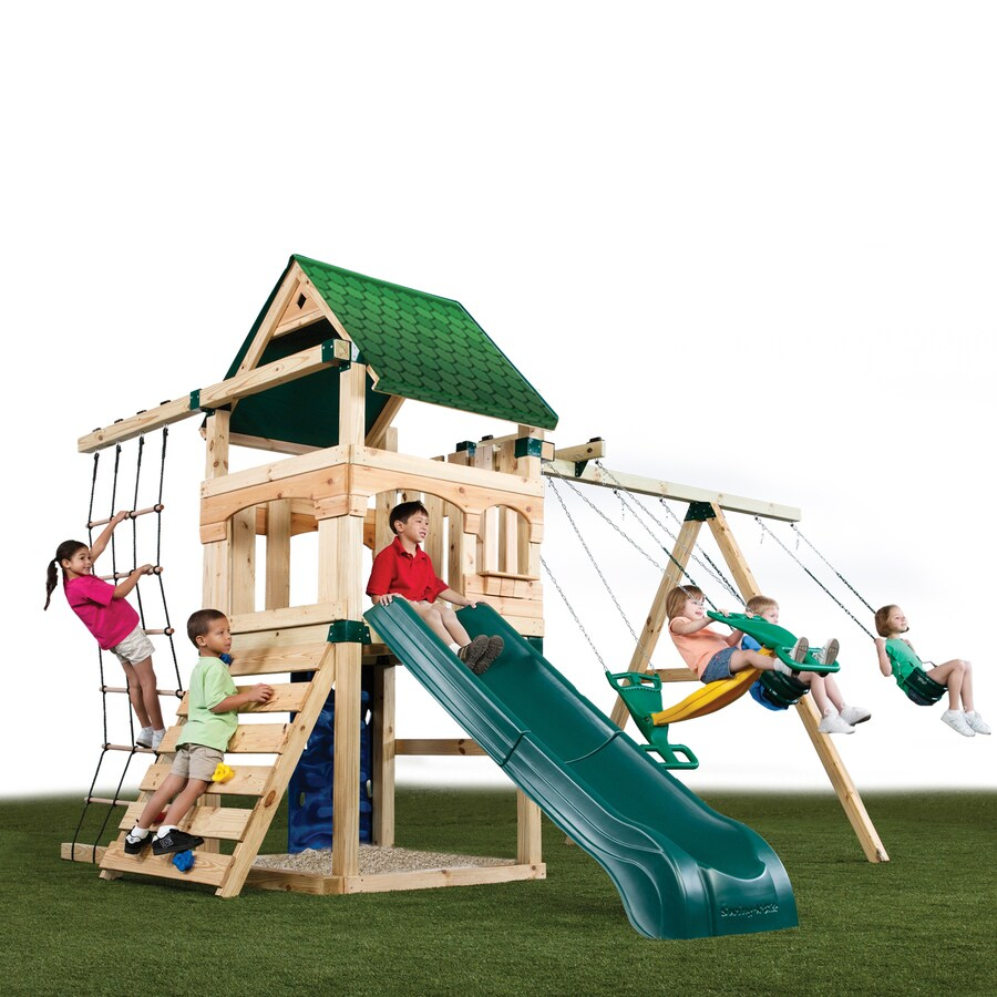 Swing N Slide Creekside Ultimate No Cut Kit Residential Wood Playset