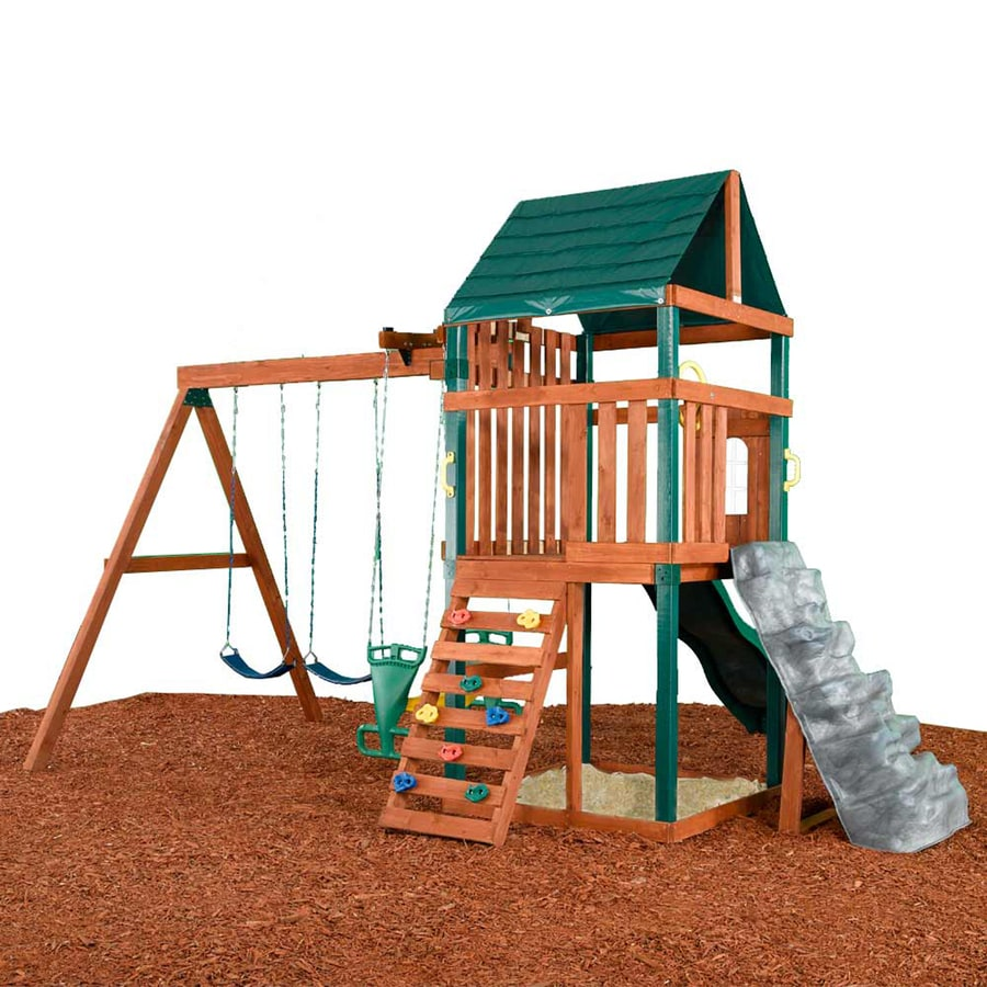 Swing-N-Slide Brentwood Residential Wood Playset with Swings