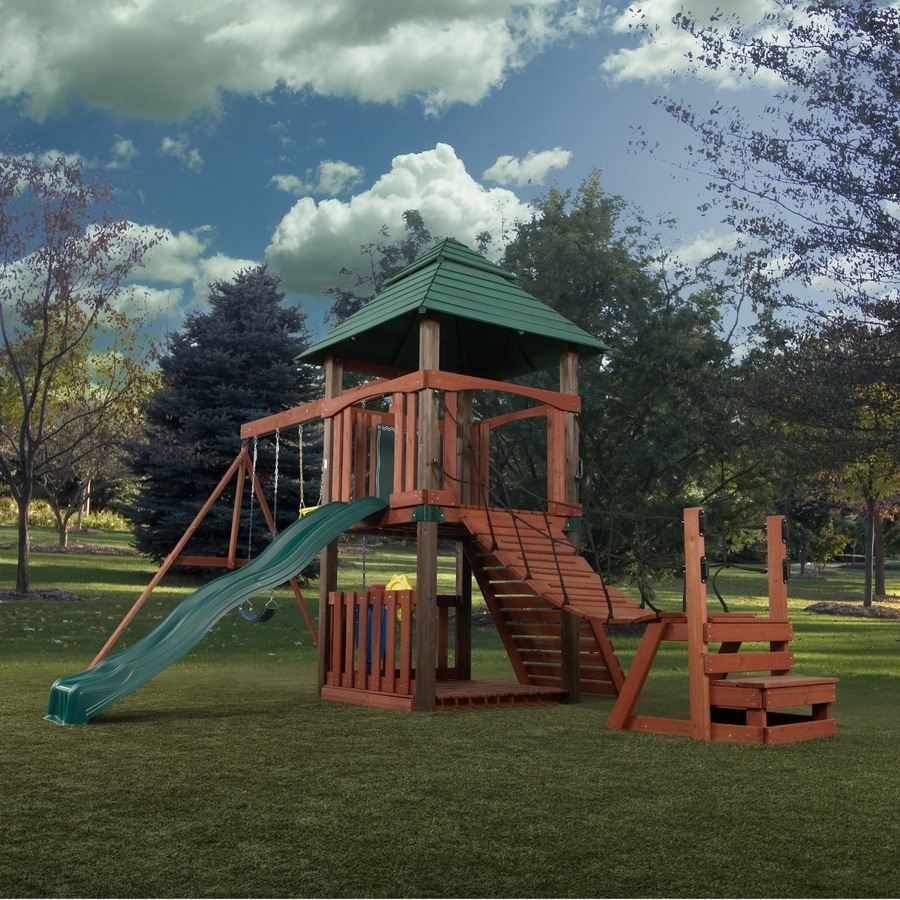 Swing N Slide Sherwood Tower Wood Complete Ready To Assemble Kit