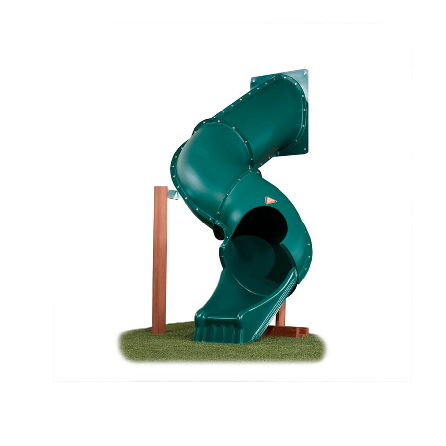 Shop Swing N Slide Tunnel Twister Green Slide At Lowes Com