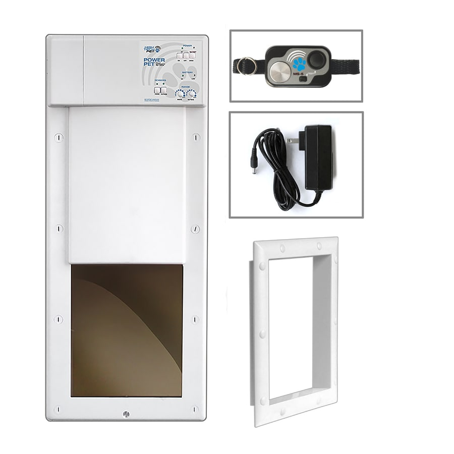 High Tech Pet Medium White Composite Door or Wall Pet Door (Actual: 10-in x 8.25-in)