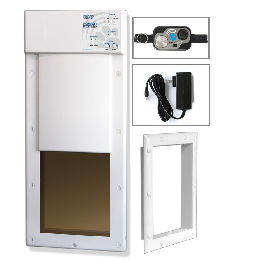 High Tech Pet Large White Composite or Wall Pet Door (Actual: 16-in x 12.25-in)