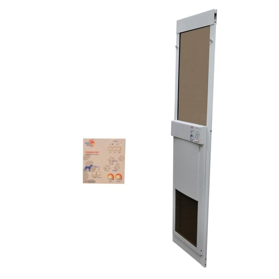 High Tech Pet X-Large White Composite Sliding Pet Door (Actual: 16-in x 12.25-in)