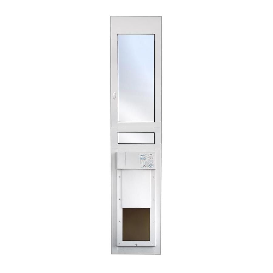 High Tech Pet Medium White Composite Sliding Pet Door (Actual: 12-in x 8.25-in)